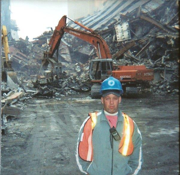 Feal at Ground Zero, before his foot injury.