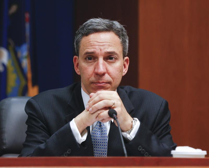 Sen. Jack Martins, R-Garden City Park, during a Senate hearing in 2015 in Albany, N.Y.