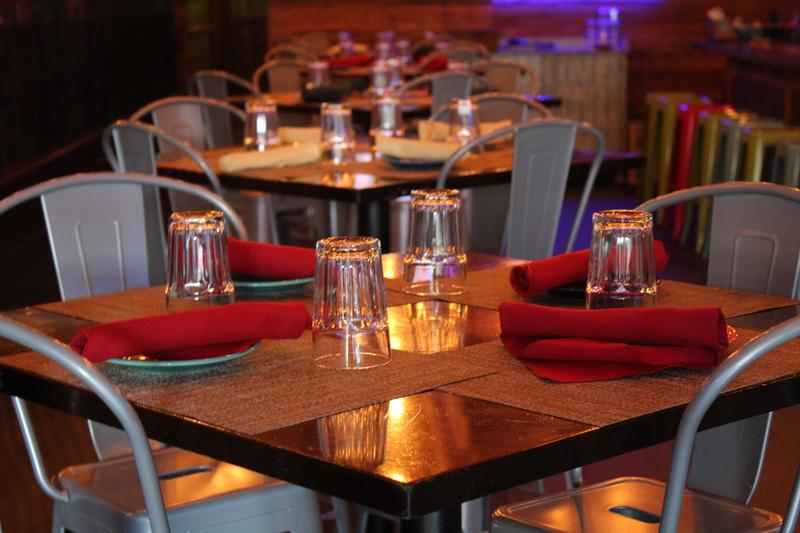 Tables are set at Cantina Tequila Bar and Southwest Grill