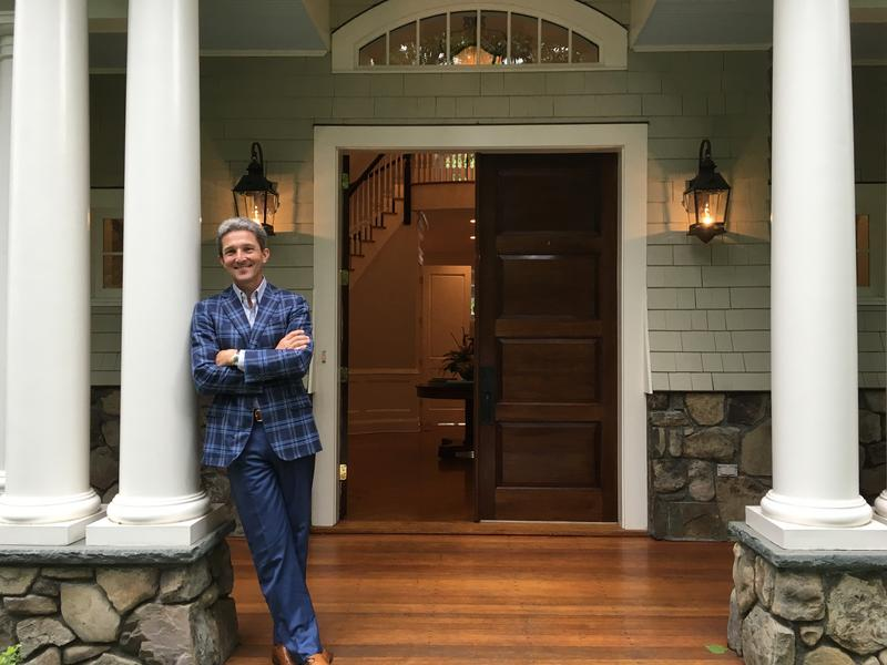 Real estate agent John Engel concludes an open house for one of his properties, a $3.4 million mansion in New Canaan, Conn.