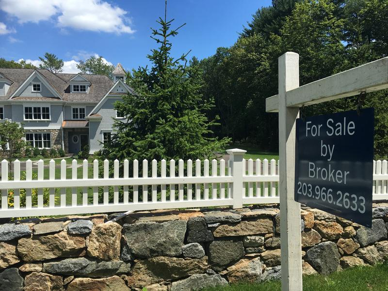 A house for sale on West Road, an upscale section of New Canaan, Conn., near GE CEO Jeff Immelt's former estate.