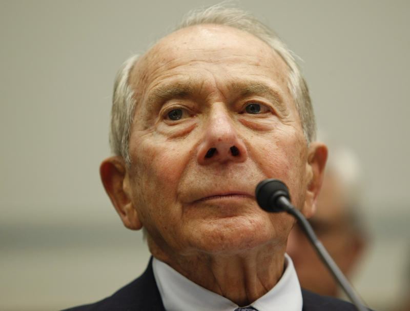 Former AIG head Hank Greenberg testifies on Capitol Hill in Washington before the House Oversight Committee in 2009.