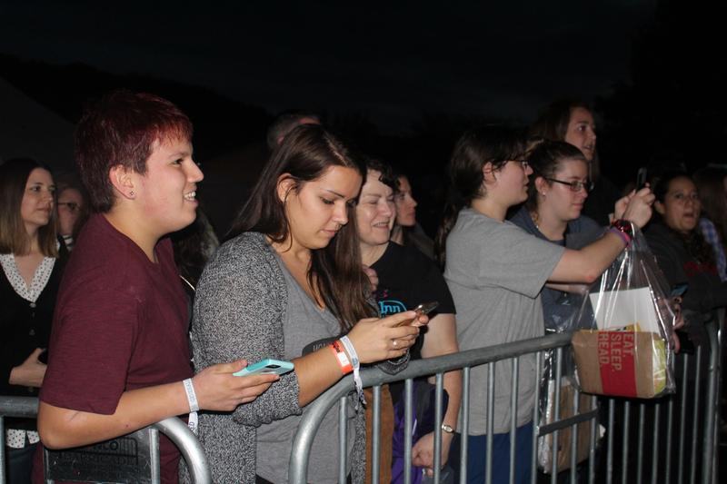 Fans waiting for cast and crew members to arrive Friday night.