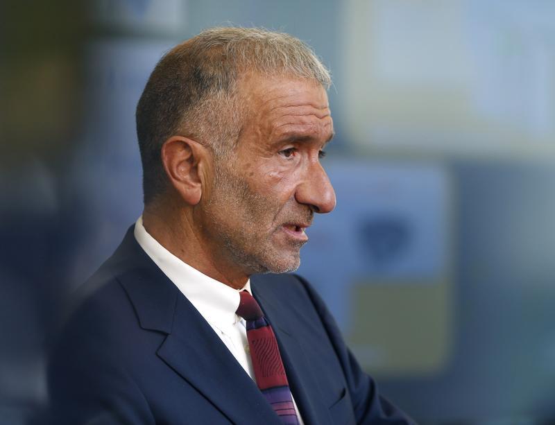Alain Kaloyeros speaks during an economic development news conference in Niskayuna, N.Y., in 2014.