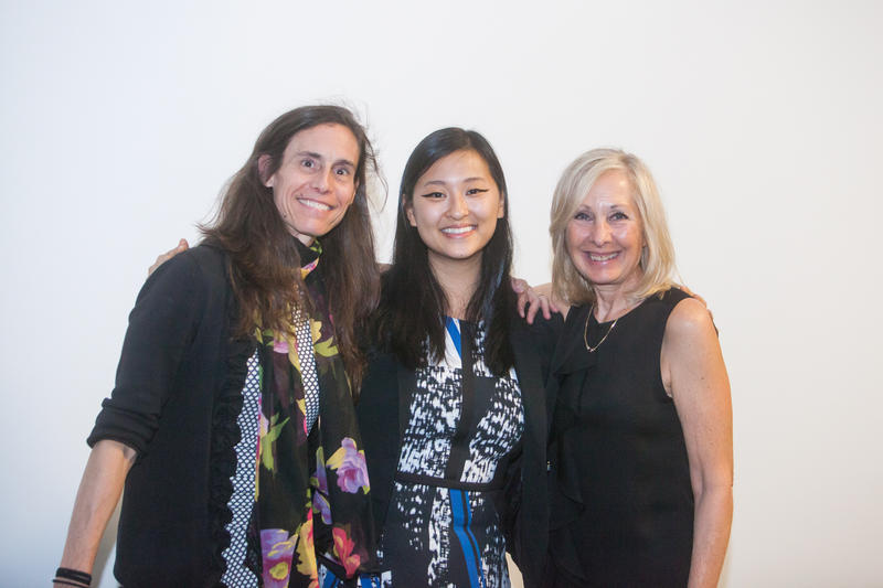 Jenn Gabler and Janis Collins, co-founders of The Refinery, stand on either side of entrepreneur Ellen Su.
