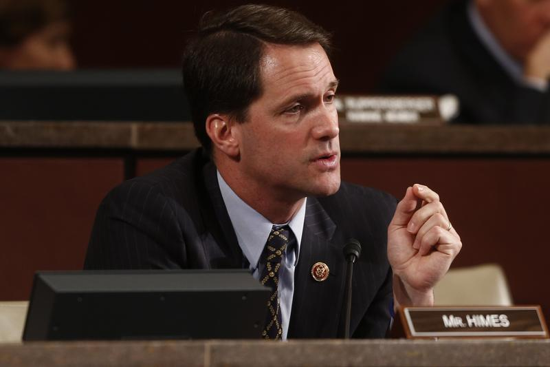 Rep. Jim Himes, D-Conn., speaks on Capitol Hill in Washington in 2013.