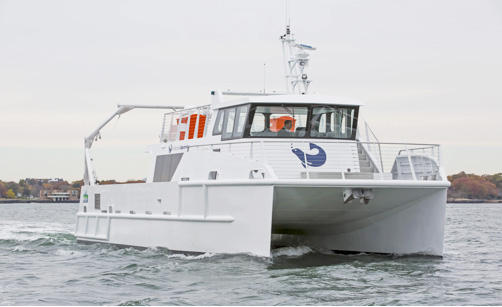 The Spirit of the Sound is the Norwalk Aquarium's official research vessel.