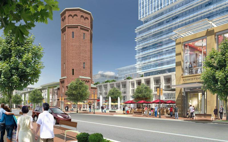 Artistic rendering of the Heartland Town Square project developers hope to build in Brentwood, Long Island.