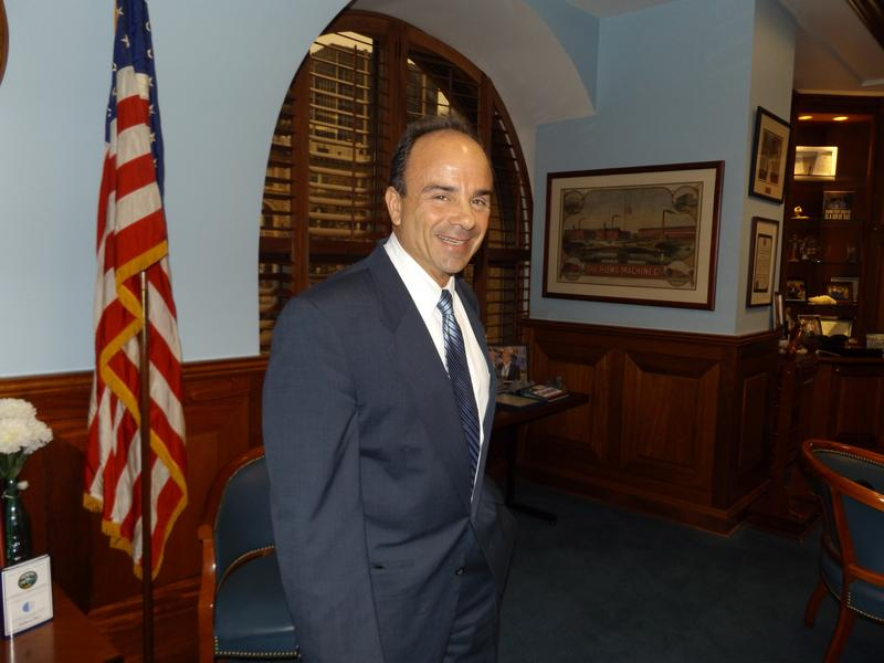 Bridgeport Mayor Joseph P. Ganim in the mayor's office in January.