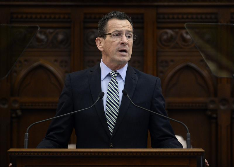 Connecticut Gov. Dannel P. Malloy delivers the State of the State address during opening session at the state Capitol in January in Hartford, Conn.