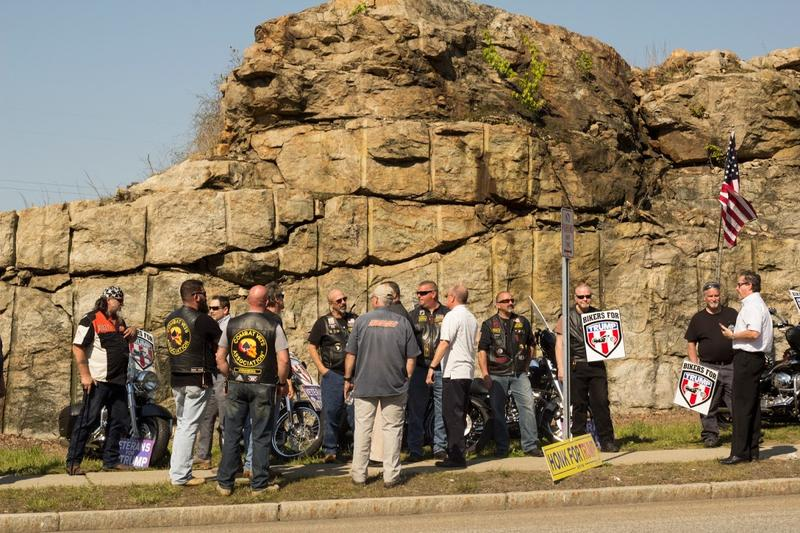 Bikers for Trump were one of the larger organized groups in the pro-Trump camp.