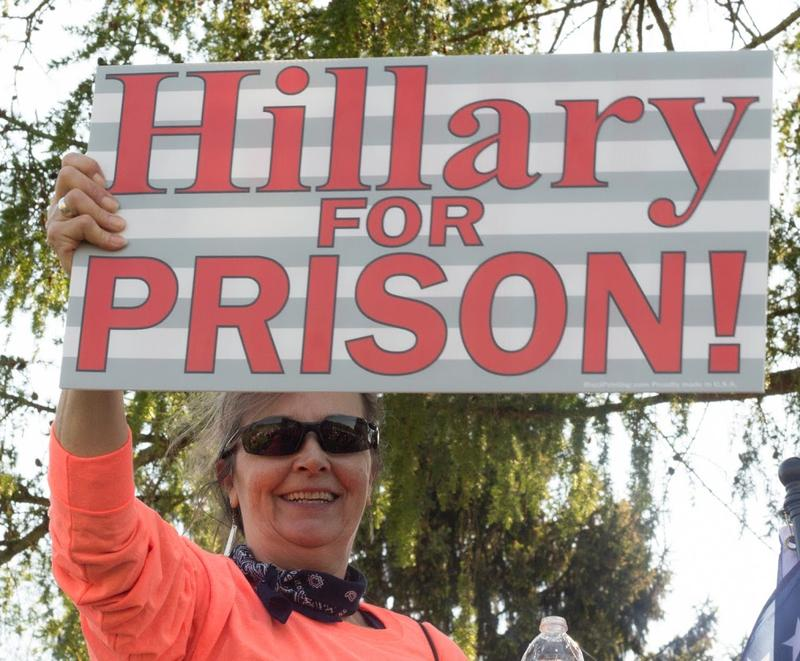 One woman made known her opinion on former presidential candidate Hillary Clinton.