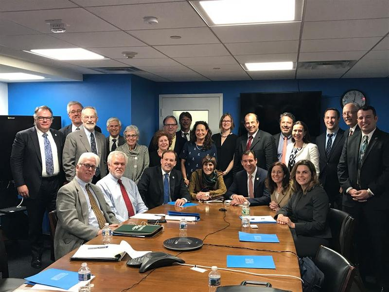 Members of the bipartisan Long Island Sound Caucus meet with the Long Island Sound Citizens Advisory Committee in Washington, D.C., in April.