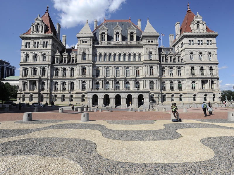 Exterior view from the plaza of the New York state Capitol in Albany, N.Y.