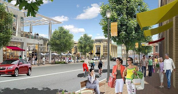 Artistic rendering of the Heartland Town Square project on Long Island.
