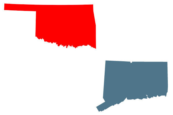 Oklahoma and Connecticut