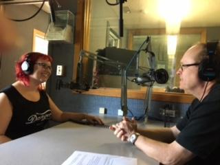 Danger speaks to All Things Considered Host Bill Buchner at the WSHU studios on Friday.