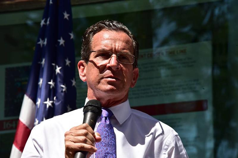 Speaking at the rally, Gov. Dannel Malloy urged people to stand up against racism and hatred.