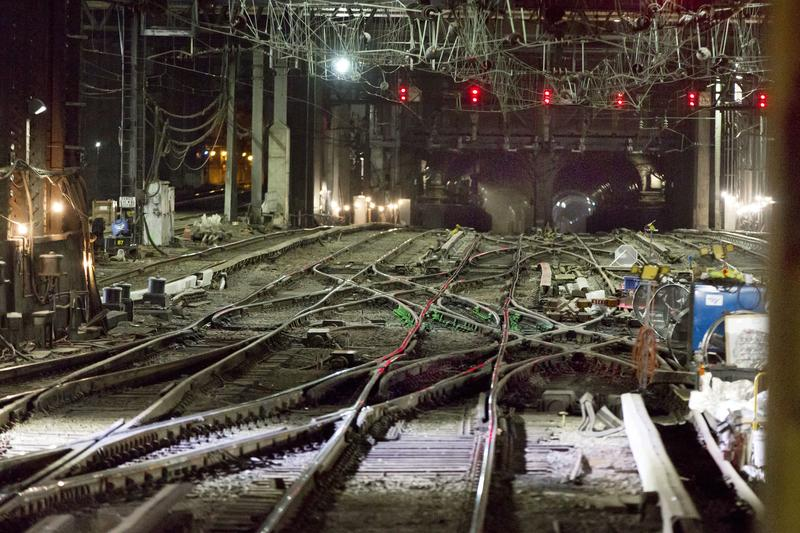 Interlocking rail and trans-Hudson tunnels at New York's Penn Station. Disabled trains in the tunnels under the Hudson and East Rivers regularly cause delays that can ripple up and down the northeastern U.S.