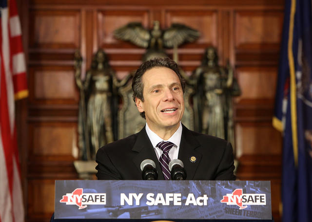 In 2013, Governor Cuomo signed into law the NY SAFE Act (Secure Ammunition and Firearms Enforcement Act), which banned high capacity magazines and assault weapons, among other gun restrictions.