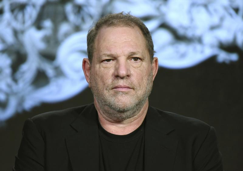 Producer Harvey Weinstein at the A&E 2016 Winter TCA in Pasadena, Calif. Weinstein has been fired from The Weinstein Co., following new information revealed regarding his conduct, the company's board of directors announced on Sunday.