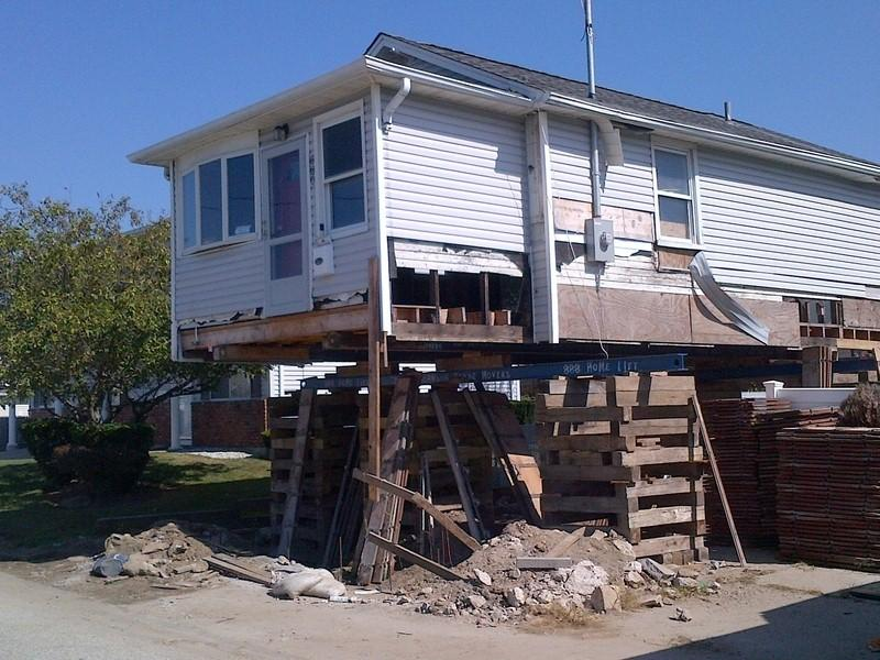 A home in Lindenhurst, Long Island, damaged by Sandy.