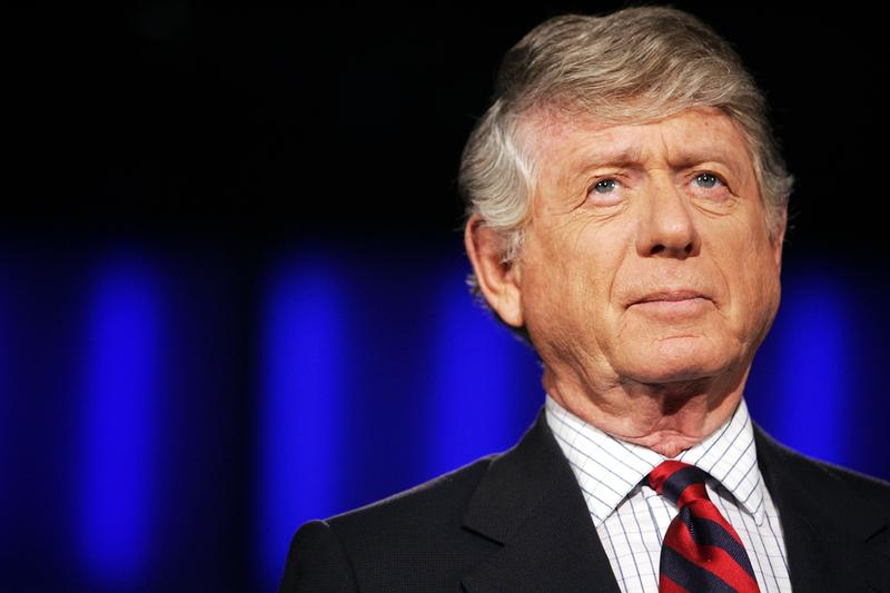 """Nightline"" anchor Ted Koppel prepares for the taping of his last broadcast in 2005 at ABC's studio in Washington."