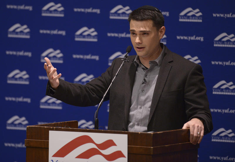 Controversial conservative commentator Ben Shapiro, editor-in-chief of the Daily Wire and former editor-at-large of Breitbart News, addresses the student group Young Americans for Freedom at the University of Utah in September.