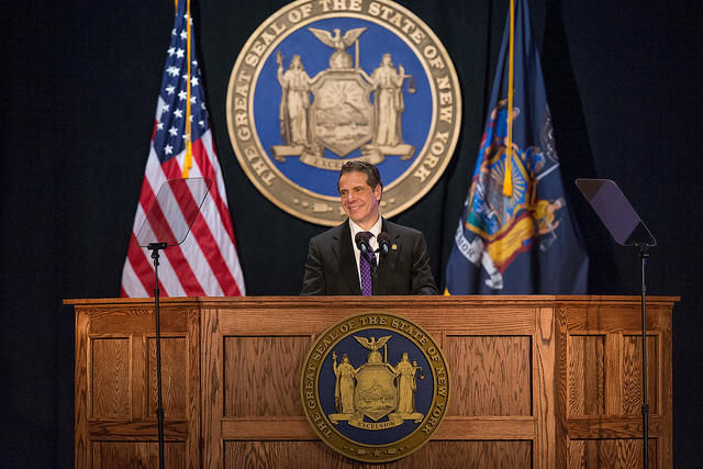 Governor Andrew Cuomo delivers the 2018 State of the State Address at Empire State Plaza Convention Center in Albany, N.Y., on Wednesday.