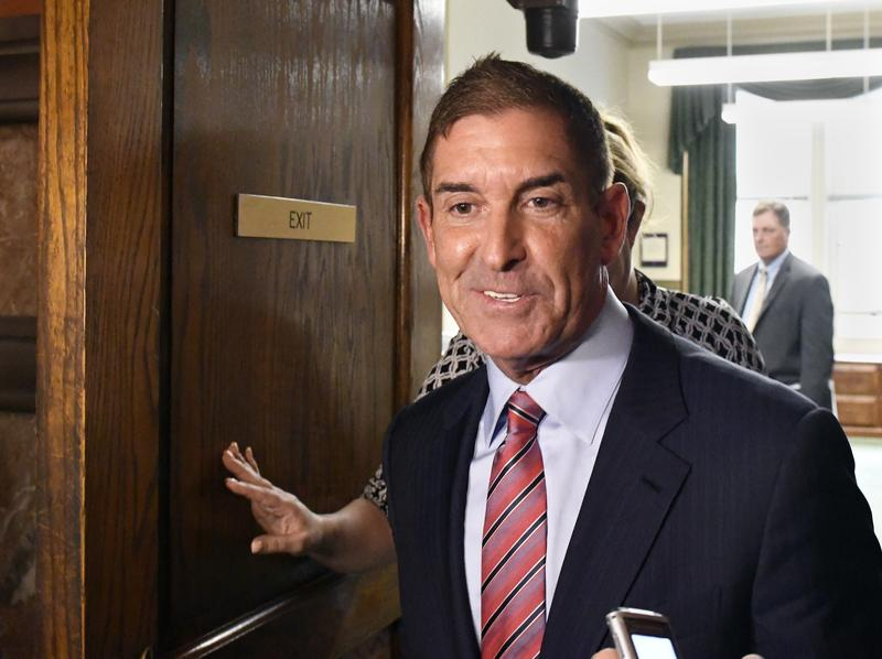 Senate Independent Democratic Conference Leader Jeffrey Klein, D-Bronx, leaves after a meeting with New York Gov. Andrew Cuomo at the state Capitol in Albany, N.Y., in June.