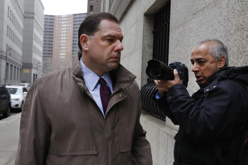 Joseph Percoco, former aide and confidant to Gov. Cuomo, arrives for jury selection in his trial in New York in January. He faces federal charges that he used that relationship to collect a fortune in bribes from companies doing business with the state.