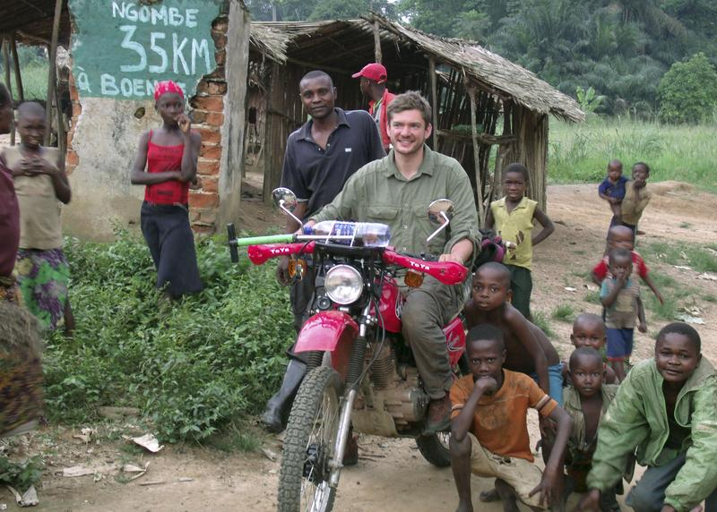 Ryan Boyko is shown in a village in the Democratic Republic of Congo in 2012. Boyko, a Yale doctoral student, said that the Connecticut order to quarantine him at home following his return from Liberia in 2014 was based on politics, not science.