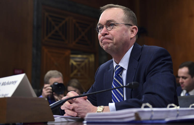 Budget Director Mick Mulvaney testifies before the Senate Budget Committee on Capitol Hill in Washington last week on President Donald Trump's fiscal year 2019 budget proposal.
