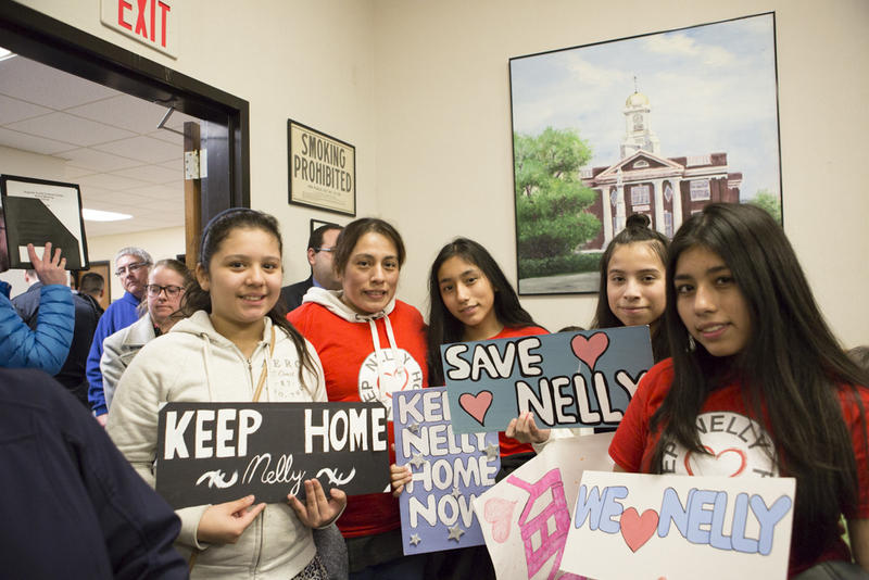 Young community members show their support for Cumbicos at the City Council meeting.