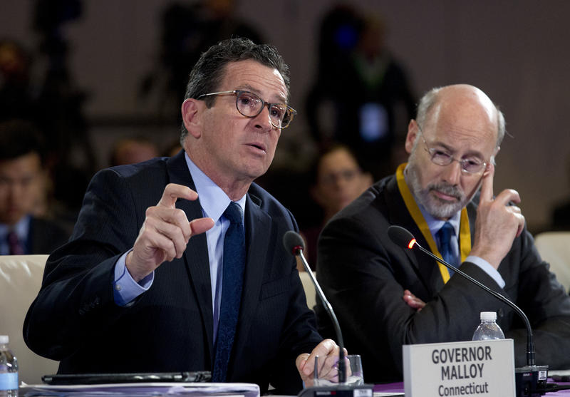 Connecticut Gov. Dannel Malloy speaks at the National Governor Association 2018 winter meeting in February in Washington.