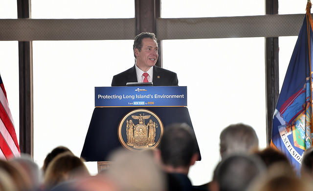 Governor Cuomo holds a press conference on Tuesday to announce the construction of six artificial reefs off of Long Island.