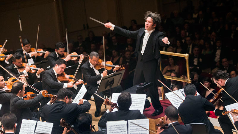 Gustavo Dudamel conducts Ravel, Stravinsky, and selected dances from around the world at Carnegie Hall in 2016.