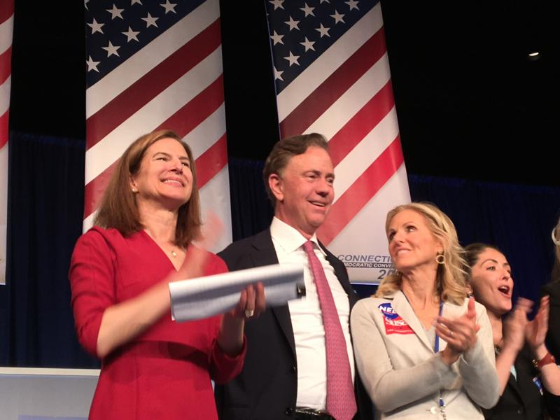 Greenwich business Ned Lamont accepts the Connecticut Democratic Party's nomination for governor in Hartford last month.