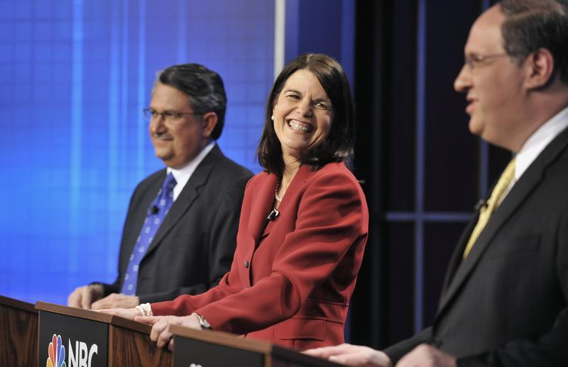 Former Simsbury First Selectwoman Mary Glassman at a Democratic gubernatorial debate in West Hartford in 2010.
