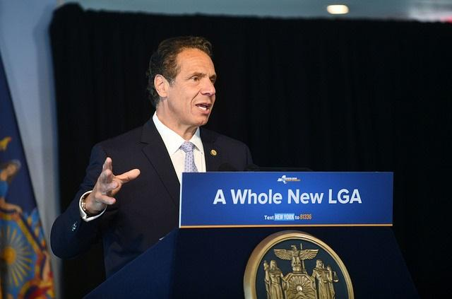 Governor Cuomo signs legislation at World Trade Center 7 clearing the path for the creation of an AirTrain link between LaGuardia Airport and Willets Point, Queens. LaGuardia Airport is the only major airport on the East Coast without rail service.