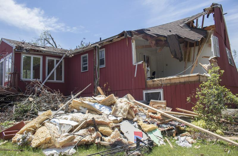 Ray Murphy's Brookfield home, which was destroyed by a microburst that hit the town in May.