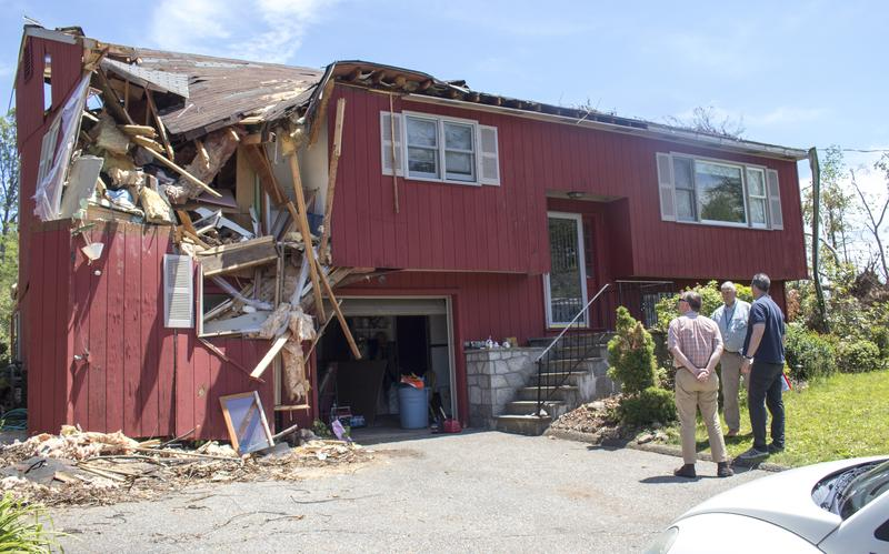 FEMA officials visited Murphy's home on Monday.