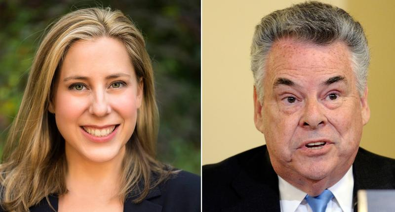 Political newcomer and activist Liuba Grechen Shirley, left,  won the Democratic primary for Long Island's 2nd Congressional District. She now goes on to face the Republican incumbent Peter King.