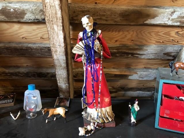 Santa Muerta, the Mexican saint of death, as seen at Morbid Anatomy in Brooklyn, N.Y.