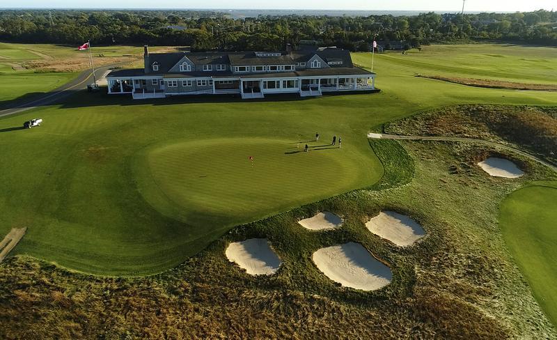 The ninth green at Shinnecock Hills Golf Club in Southampton, N.Y.