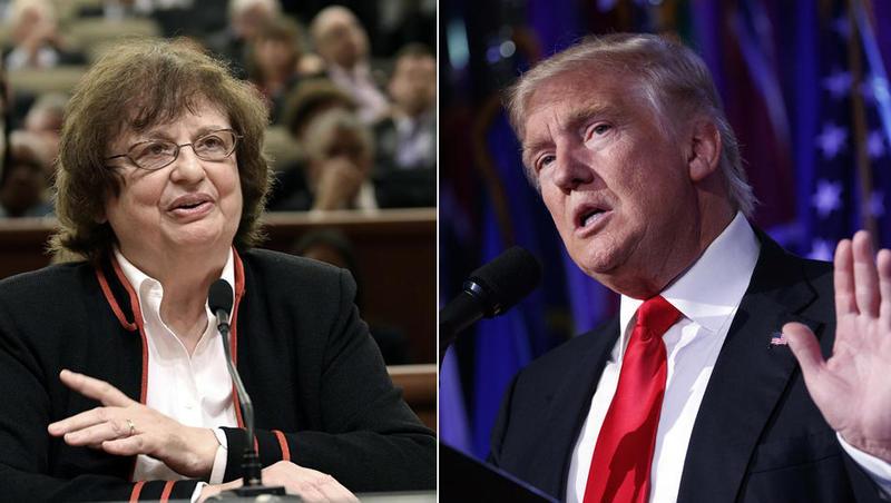 New York Attorney General Barbara Underwood. President Donald Trump.