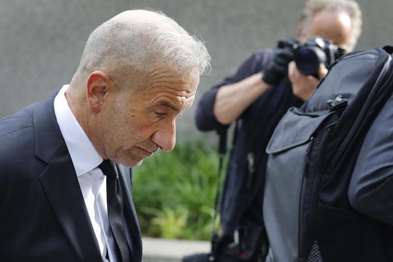 Alain Kaloyeros, a former president of the State University of New York's Polytechnic Institute, arrives at federal court for his corruption trial in June in New York.