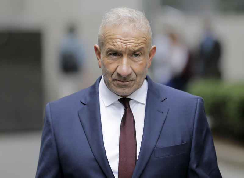 "Alain Kaloyeros, a former president of the SUNY Polytechnic Institute, arrives t federal court in New York Thursday. A federal jury convicted key players including Kaloyeros of corruption in Gov. Cuomo's ""Buffalo Billion"" economic redevelopment program."
