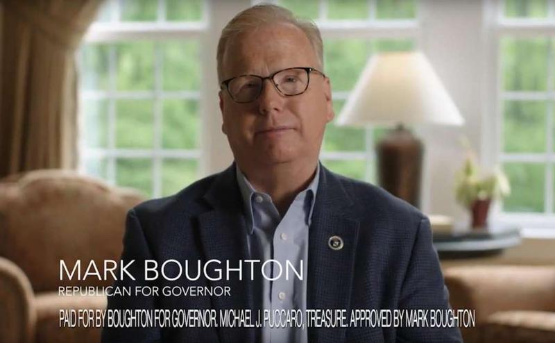 Screenshot of an ad for Danbury Mayor Mark Boughton.