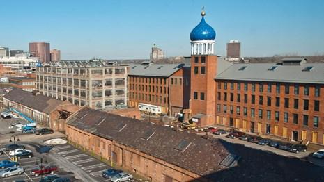 The former Colts firearms factory and complex in Hartford, Conn.